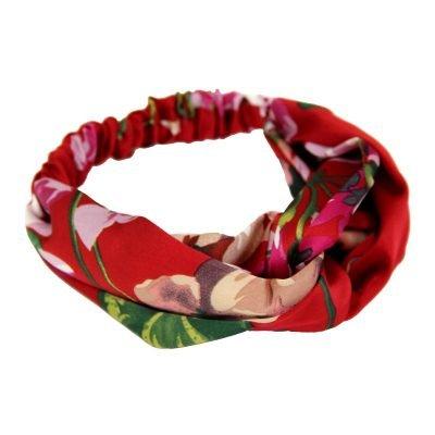 Haarband Chic Flowers rood rode dames haarbanden rode bloemenprint musthave fashion haar accessoires online kopen