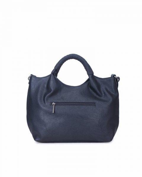 Handtas Billy zwart zwarte dames handtas gevlochten onderkant 2 kwastjes schoudertas it bags tassen online achterkant