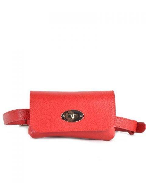 Leren Heuptas Classic rood rode beltbag-belt purse riemtas-heuptasje-met-riem-fashion-festival-musthave-look-a-like-tassen-online-giuliano-achter