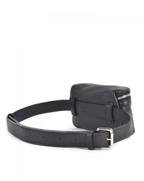 Leren Heuptas Lines -zwart zwarte -beltbag-belt purse riemtas-heuptasje-met-riem-fashion-festival-musthave-look-a-like-tassen-online-giuliano leer achter