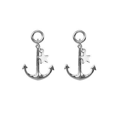 Oorbellen Sailor Dream zilver zilveren dames oorbellen navy anker ster geluks oorbel dames sieraden online bestellen kopen