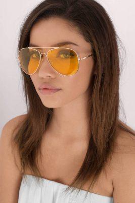 Pilotenbril-Gold-Clear- gouden piloten gele glazen-aviator-brillen-doorzichtige geel-glazen-musthave-bril-dames-fashion yellow