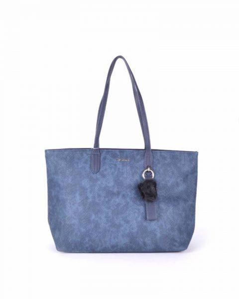 Shopper Soho snake blauw blauwe david jones shoppers handtas tassen fashion dames tassenhanger musthave tassen online