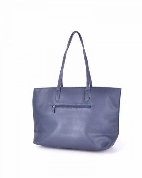 Shopper Soho snake blauw blauwe david jones shoppers handtas tassen fashion dames tassenhanger musthave tassen online achterkant