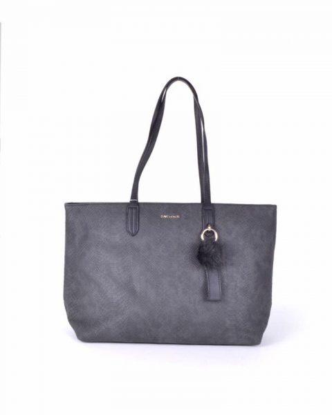 Shopper Soho snake zwart zwarte david jones shoppers handtas tassen fashion dames tassenhanger musthave tassen online