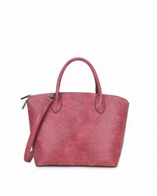 Tas Mila Snake rood rode handtas schoudertas rits stevig dames tassen fashion online kunstleder bestellen