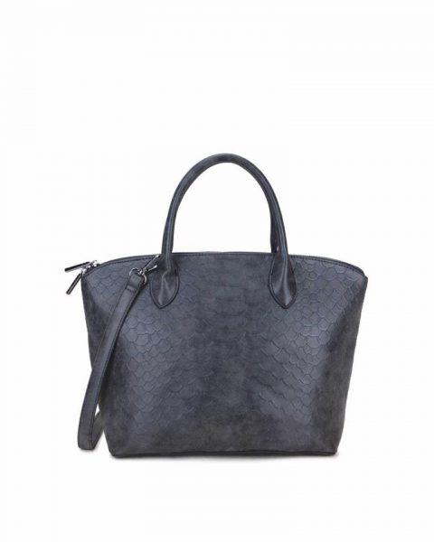 Tas Mila Snake zwart zwarte handtas schoudertas rits stevig dames tassen fashion online kunstleder bestellen