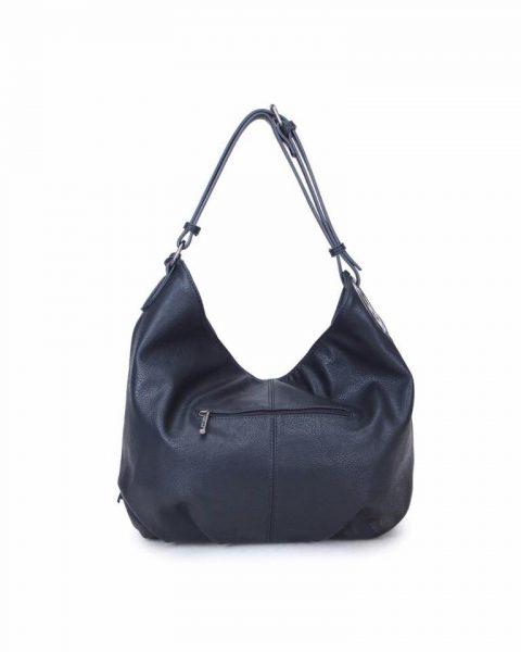 Tas & Portemonnee Billy zwart zwarte dames handtas gevlochten onderkant 2 kwastjes losse portemenee bag in bag schoudertas it bags tassen online achterkant