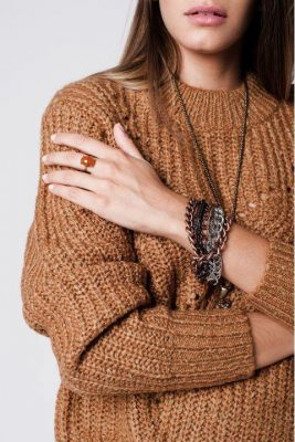 Trui Chunky Wol bruin bruine dikke dames truien sweaters modemusthaves wintertruien online bestellen kopen details