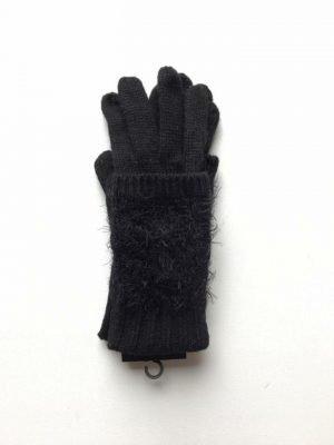 Handschoenen Fussy handschoenen-wol-zwarte zwart-warme-handschoenen-wanten-online-kopen-winter-accessoires dames handschoen