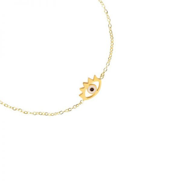 Armband Stylish Eye goud gouden dunne armband met oog bedel Bracelet sieraden fashion musthave items details