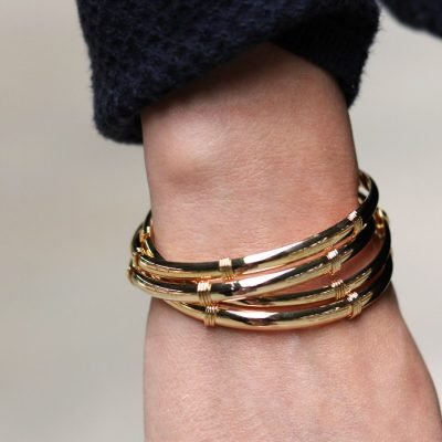 Armband Stylish Line goud gouden open rvs dames armband bangles musthave fashion sieraden kado vrouwen