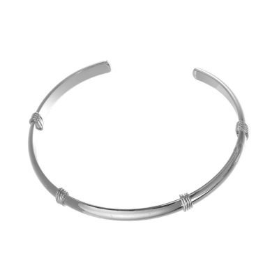 Armband Stylish Line zilver zilveren open rvs dames armband bangles musthave fashion sieraden kado