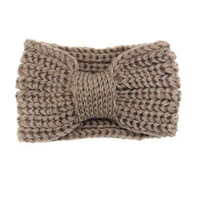 Haarband-Winter-Bow bruin bruine -wollen-dames-haarbanden-musthave-fashion-dames-haar-accessoires-online-kopen-vrouwen