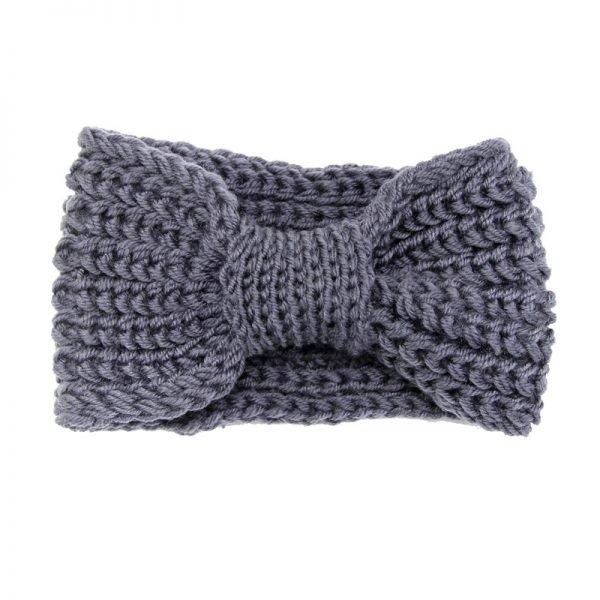 Haarband-Winter-Bow grijs grijze -wollen-dames-haarbanden-musthave-fashion-dames-haar-accessoires-online-kopen-vrouwen