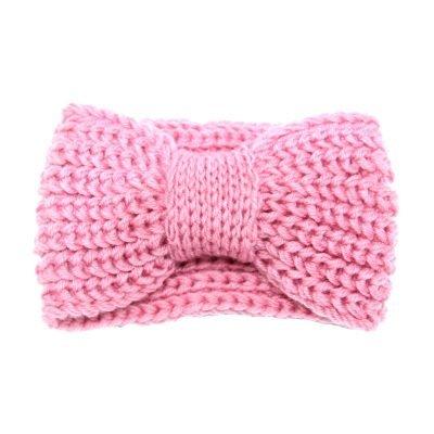 Haarband-Winter-Bow roze pink -wollen-dames-haarbanden-musthave-fashion-dames-haar-accessoires-online-kopen-vrouwen