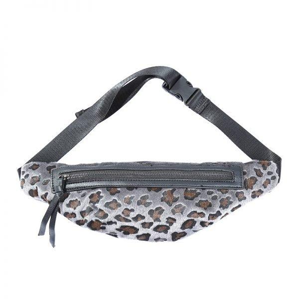 Heup tasje Trendy Leopard grijs grijze Fanny Pack heuptas dames fashion dierenprint animal print musthave tassen festival