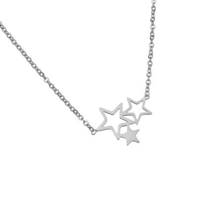 Kertting 3 Stars zilver zilveren dunne dames kettingen drie sterren fashion sieraden necklage online bestellen nu