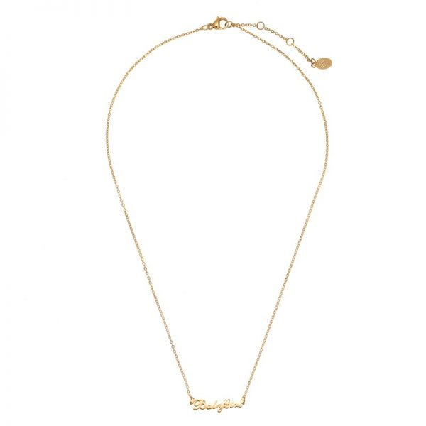 Ketting Baby Girl goud gouden rvs dames ketting met tekst mooie valentijn kado musthave accessoires mode fashion