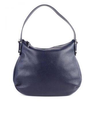 Leren Tas Miley blauw blauwe lederen handtassen tassen zilver beslag musthave giuliano leer italiaans dames it bags online