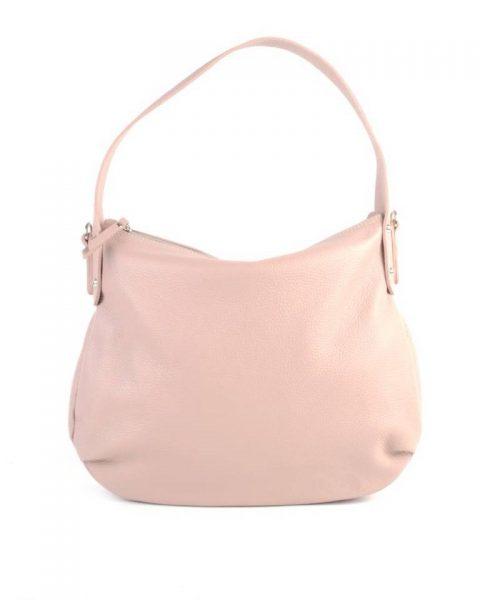 Leren Tas Miley roze nude lederen handtassen tassen zilver beslag musthave giuliano leer italiaans dames it bags online - kopie
