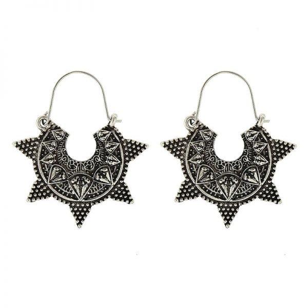 Oorbellen Funky Sun zilver zilveren dames oorbellen retro accessoires musthave fashion online bestellen oorhangers