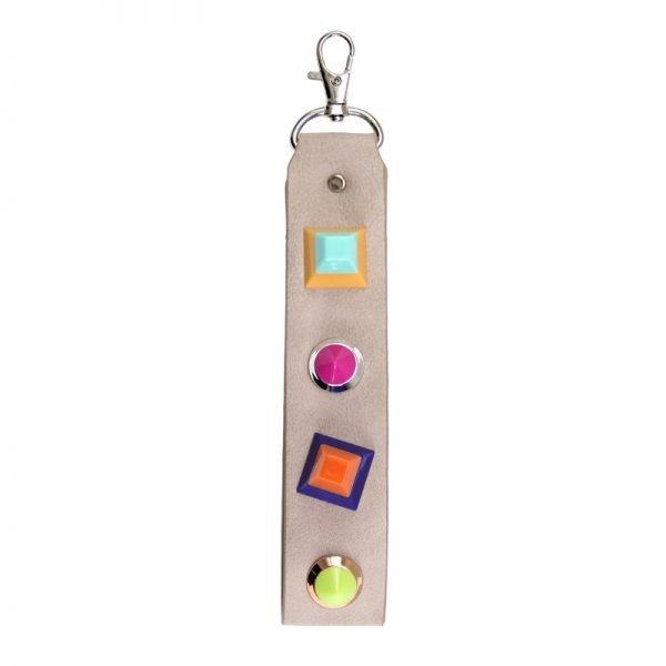 Sleutelhanger Colour Blocking beige nude creme sleutelhangers neon gekleurde studs Keychain musthave fashion items online bestellen