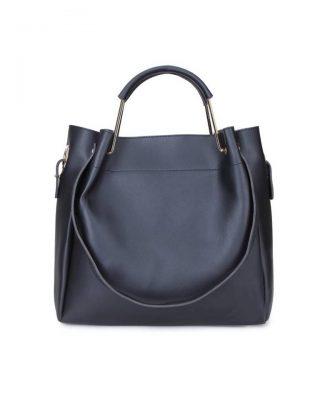 Tas Nienke zwart zwarte black tassen binnen tas zwart hengsels dames fashion itbags Bag in Bag handtassen schoudertassen online