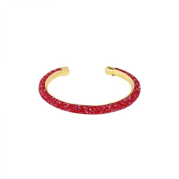 Armband Merry Glitter rood rode open glitter armbanden dames bracelets sieraden online fashion musthaves