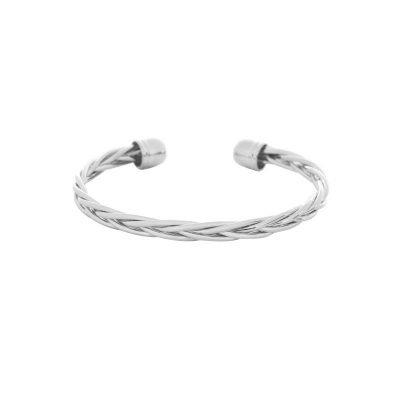 Armband ool Braid zilver zilveren open dames armbanden Bracelets dunne gevlochten armbanden fashion musthaves online
