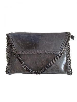 Leren-Schouder-tas-Chains-grijs-grijze-dames-leder-tas-zilver-kettingen-rondom-ketting-hengsel-musthave-fashion-goedkoop-look-a-like-bags luxe