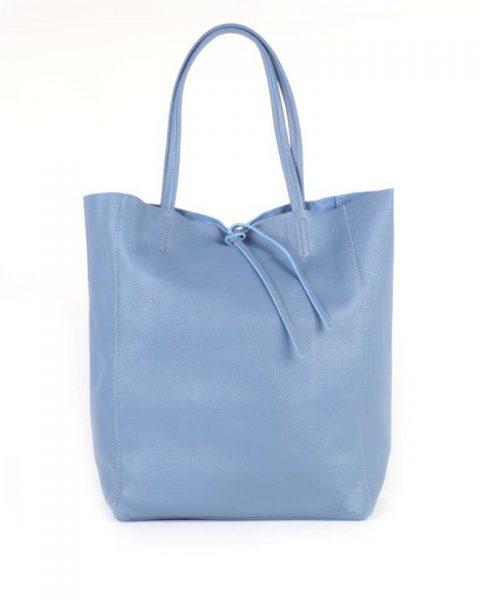 Leren-Shopper-Simple jeans blauw blauwe-ruime-dames-shopper-zacht-leer-online-luxe-dames-tassen-italie-bestellen-557x600