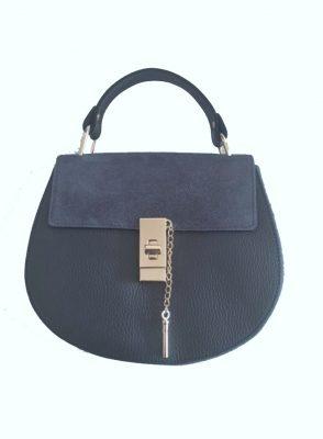 Leren-tas-Chloé-grijs grijze donker grey -musthave-saddle-bag-leer-suede-musthave-tassen-online-kopen-goedkoop leer suede