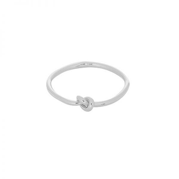Ring One Knot zilver zilveren dames ringen met knoop maat 17 online sieraden fashion musthaves rings online