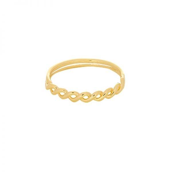 Ring Wavy Lines goud gouden dubbele gedraaide dames ringen maat 17 online sieraden fashion musthaves rings online