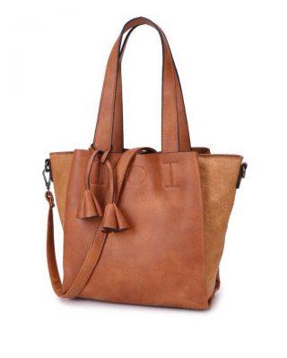 Tas Chevie bruin bruine dames handtassen giulliano kunstleder stoere tassen vrouwen online kopen bestellen itbags