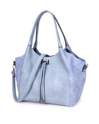 Tas Gracia blauw blauwe chique dames tassen met touwtjes 2 soorten kunstleder it bags online bestellen kopen ruime tassen