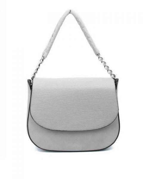 Tas-Maya- grijs grijze -dames-schoudertassen-korte-zilveren-hengsel-dames-tassen-it-bags-guiliano-online itbags kopen bestellen