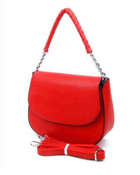 Tas-Maya-rood rode -dames-schoudertassen-korte-zilveren-hengsel-dames-tassen-it-bags-guiliano-online itbags kopen bestellen