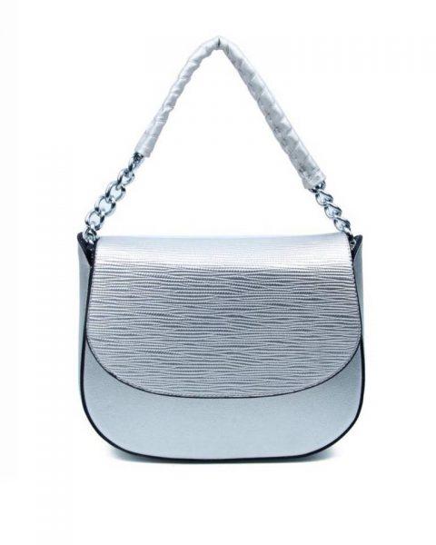 Tas-Maya- zilver zilveren -dames-schoudertassen-korte-zilveren-hengsel-dames-tassen-it-bags-guiliano-online itbags kopen bestellen