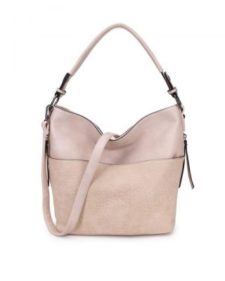 Tas Pattie beige nude dames handtassen giulliano kunstleder stoere tassen vrouwen online kopen bestellen itbags