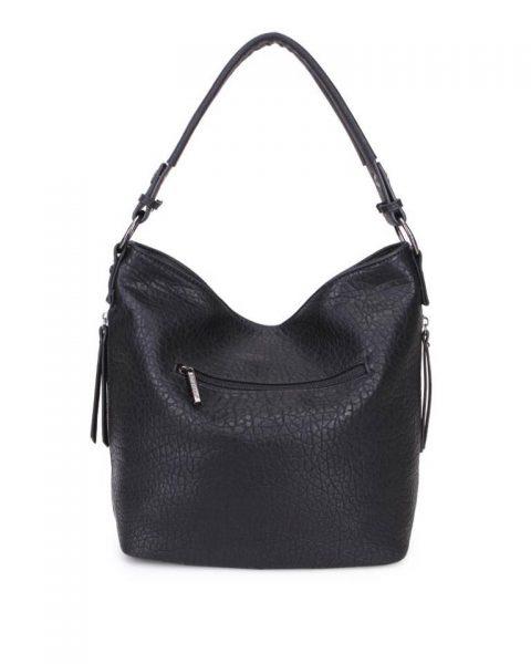 Tas Pattie zwart zwarte dames handtassen giulliano kunstleder stoere tassen vrouwen online kopen bestellen itbags achter