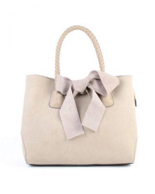 Tas-Suede-strik-off white creme -dames-handtas-met-grote-strik-fashion-itbags-goedkope-giuliano-tassen-600x600
