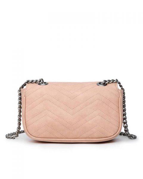 Tas-birds-roze pink-kunstlederen-it-bag-schoudertas-kettinghengsel-zilveren-vogel-en-rozen-sluiting-musthave-fashion-tassen-online vrouwen