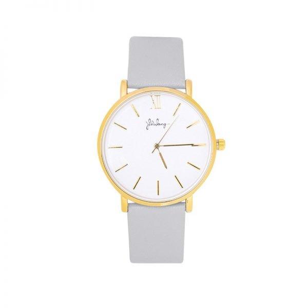 Horloge Time flies grijs grijze band gouden kast musthave dames horloges fashion horloges rvs roestvrij staal online bestellen watches