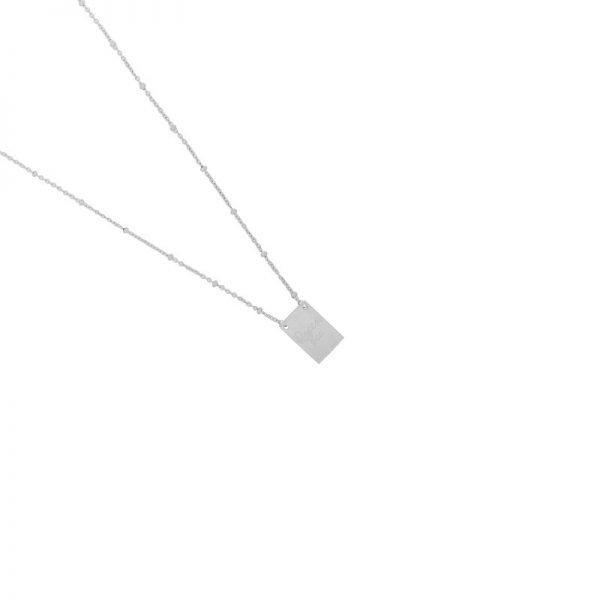 Ketting Queen B zilver zilveren lange dames ketting met bedel kant met tekst Queen Bee en bij musthave fashion necklage