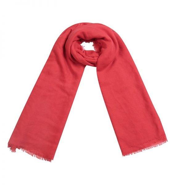 Sjaal Sweetheart rood rode lange dames sjaals omslagdoek katoen shawls yellow online fashion musthaves vierkante sjaal
