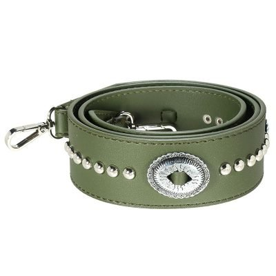 Tassen hengsel vintage groen groene tassen band zilver beslag musthave losse tassen hengsels kunstleder boho bag-strap-vintage-
