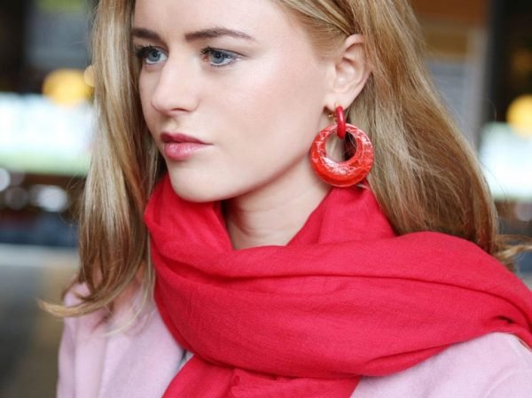 rode Oorbellen Holographic rode sjaal dames accessoires en sieraden musthaves online bestellenJPG