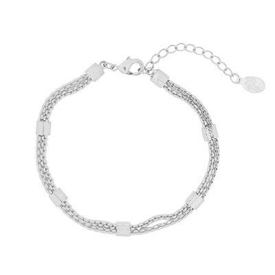 Armband Connect chain zilver zilveren dikke dames armbanden schakels musthave fashion bracelets online kopen
